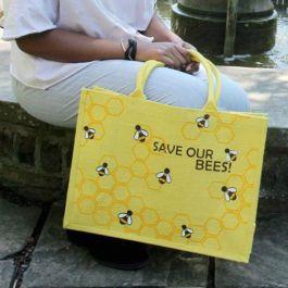 Indkøbstaske m. Save our Bees