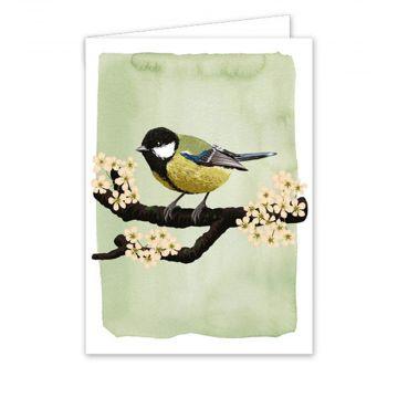 Postkort Musvit af Myrte