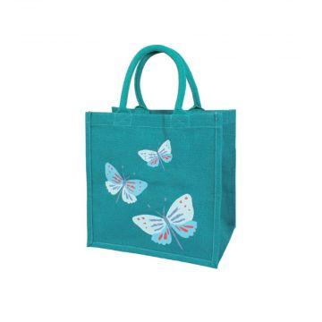 Fjärilar. Kasse av juteväv