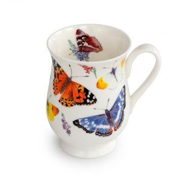 Kop med sommerfugle