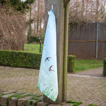 Viskestykke 'Svaler' i grøn og blå (Roy Kirkham)