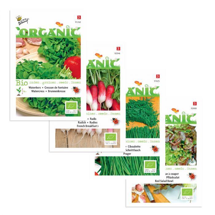 Økologisk salatblanding
