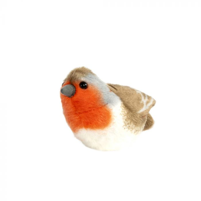 Singing Bird Soft Toy Rødhals