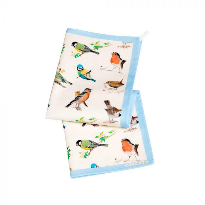 Kökshanddukar med fåglar