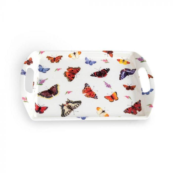 Bakke med sommerfuglemotiv